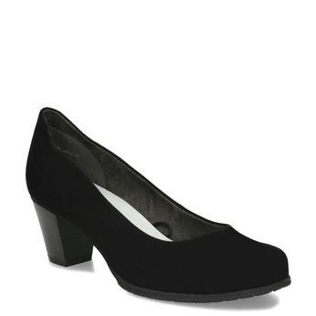 Dámské černé lodičky na stabilním podpatku bata, černá, 629-6603 - 13