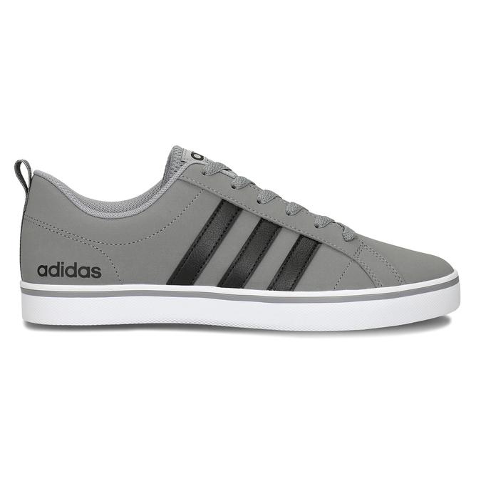 Pánské šedé tenisky městského stylu s černými detaily adidas, šedá, 801-2393 - 19