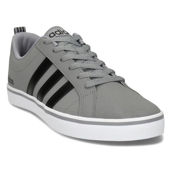 Pánské šedé tenisky městského stylu s černými detaily adidas, šedá, 801-2393 - 13