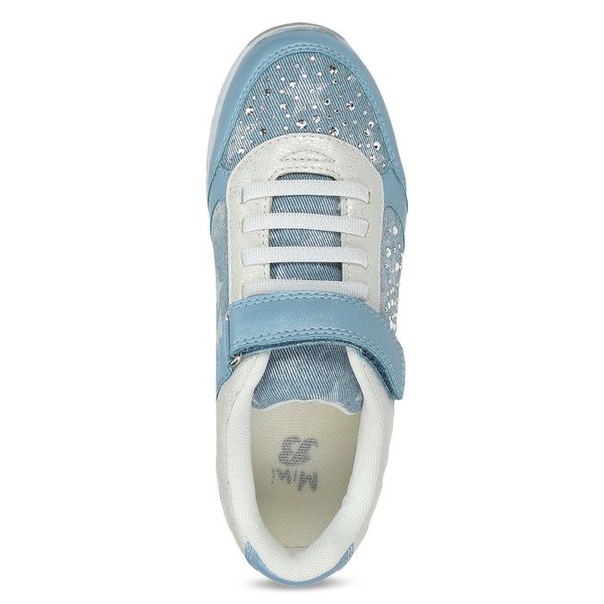 Modré dětské tenisky s kamínky mini-b, modrá, 329-9614 - 17