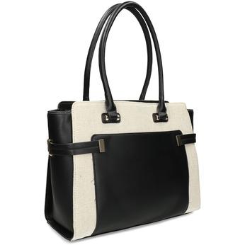 Dámská černá kabelka s béžovým detailem bata-red-label, černá, 961-6706 - 13
