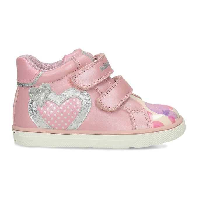 Růžové dětské kožené kotníčkové tenisky bubblegummers, růžová, 124-5611 - 19