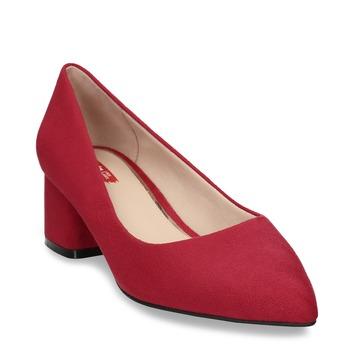 Červené lodičky na stabilním podpatku bata-red-label, červená, 621-5610 - 13