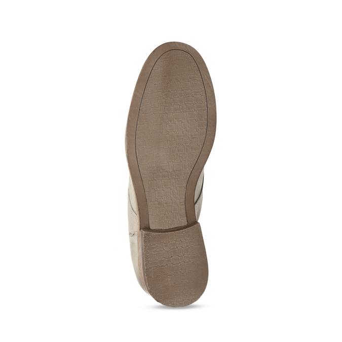 Hnědé dámské kožené kozačky s přezkami bata, šedá, 596-2602 - 18