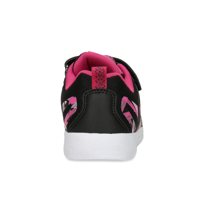 Černé dětské tenisky s růžovými detaily bubble-breathe, černá, 321-6607 - 15