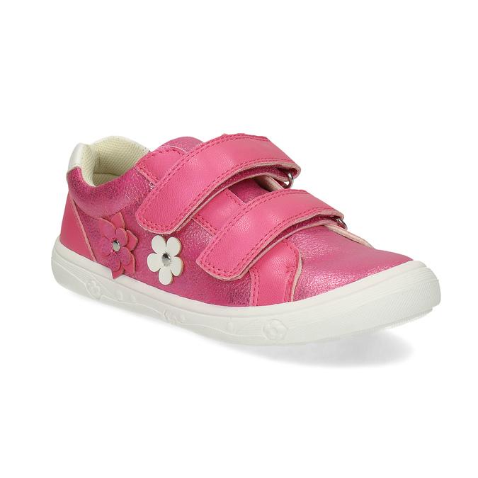Růžové dětské tenisky na suché zipy mini-b, růžová, 221-5626 - 13