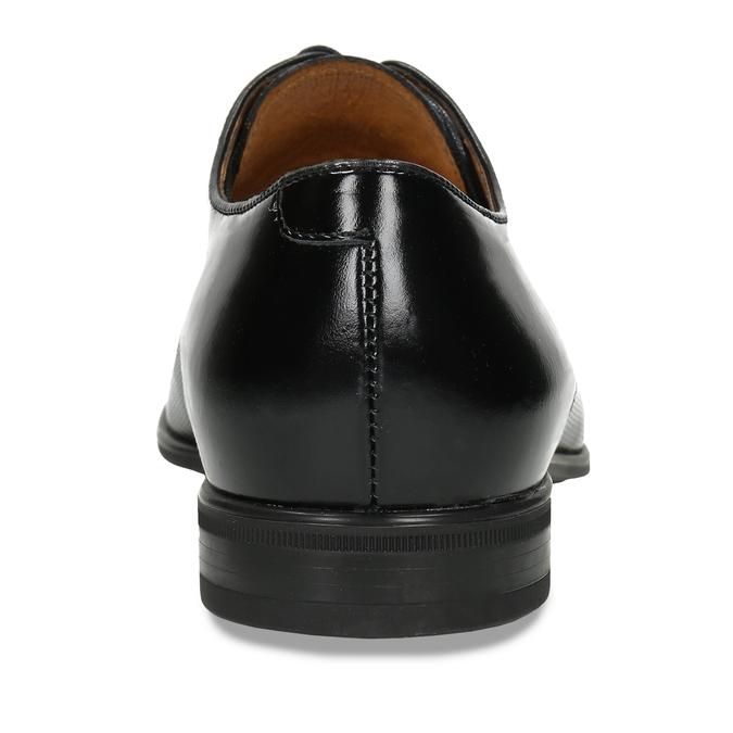 Pánské černé polobotky kožené conhpol, černá, 824-6729 - 15