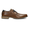 Pánské kožené hnědé neformální polobotky bata, hnědá, 826-3604 - 19