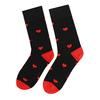 Černo-červené ponožky se srdci bata, vícebarevné, 919-0914 - 16