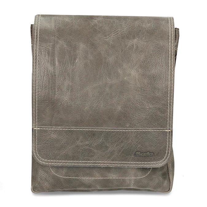 Pánská kožená šedá taška přes rameno bata, šedá, 964-2283 - 26