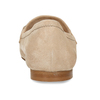 Béžové dámské mokasíny z broušené kůže bata, béžová, 513-3601 - 15
