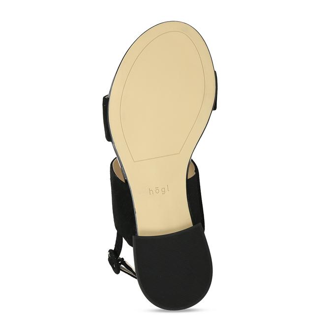 Dámské kožené černé páskové sandály hogl, černá, 563-6102 - 18