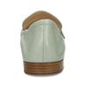 Dámská kožená světle zelená loafers obuv hogl, zelená, 514-6108 - 15