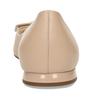 Dámské kožené béžové baleríny se sponou hogl, béžová, 524-8102 - 15