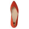 Kožené červené lodičky na nízkém podpatku hogl, červená, 623-5102 - 17