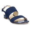 Dámské kožené modré páskové sandály hogl, modrá, 563-9103 - 13