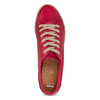 Červené dámské kožené tenisky s jutou bata, červená, 544-5604 - 17