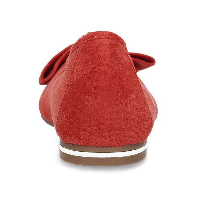 Dámské červené baleríny s mašlí bata, červená, 529-5602 - 15