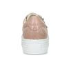 Kožené růžové tenisky na flatformě bata, růžová, 544-5602 - 15