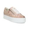 Kožené růžové tenisky na flatformě bata, růžová, 544-5602 - 13