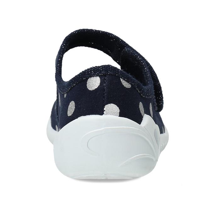 Dívčí modré přezůvky s mašlí mini-b, modrá, 379-9605 - 15