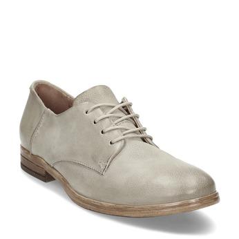 Dámské kožené světle šedé polobotky bata, šedá, 526-2607 - 13