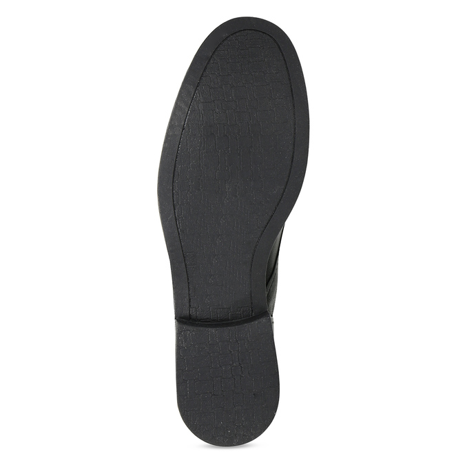 Dámské kožené černé polobotky se cvoky bata, černá, 526-6608 - 18