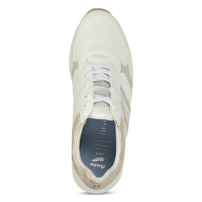 Dámské tenisky na flatformě bílé bata-light, bílá, 541-1603 - 17