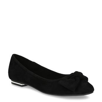 Dámské černé baleríny s mašlí bata, černá, 529-6602 - 13