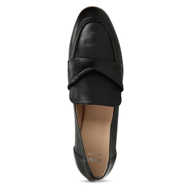 Dámské kožené černé mokasíny bata, černá, 516-6606 - 17