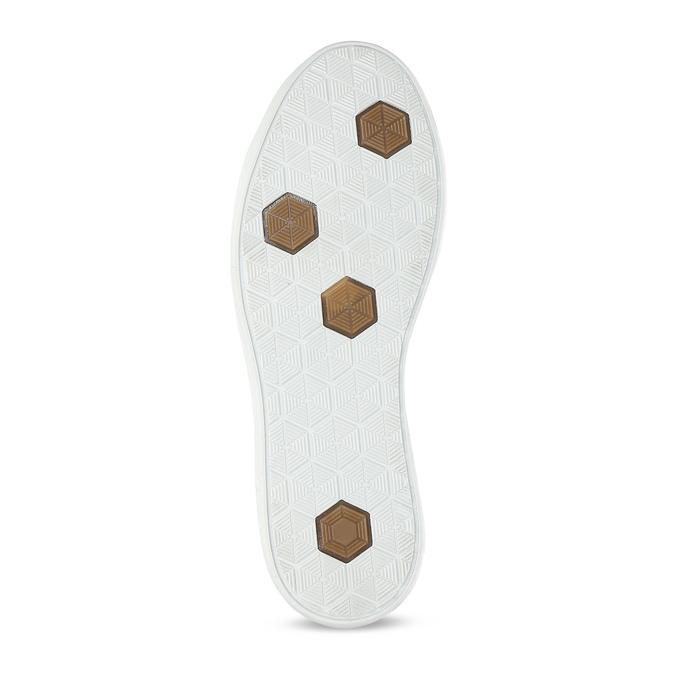 Chlapecké hnědé kožené tenisky na zip mini-b, hnědá, 416-3601 - 18
