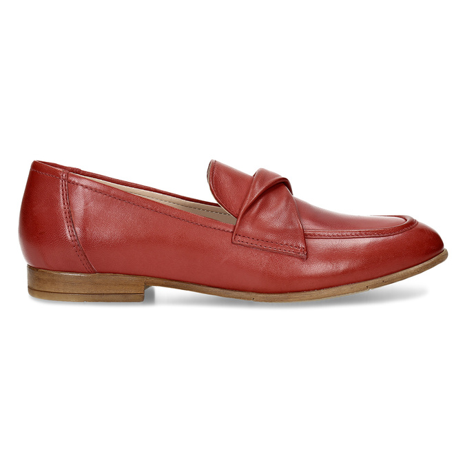 Dámské kožené červené mokasíny bata, červená, 516-5606 - 19
