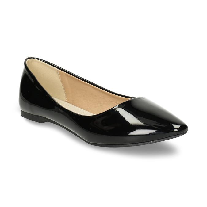 Dámské černé baleríny lakované bata, černá, 521-6622 - 13