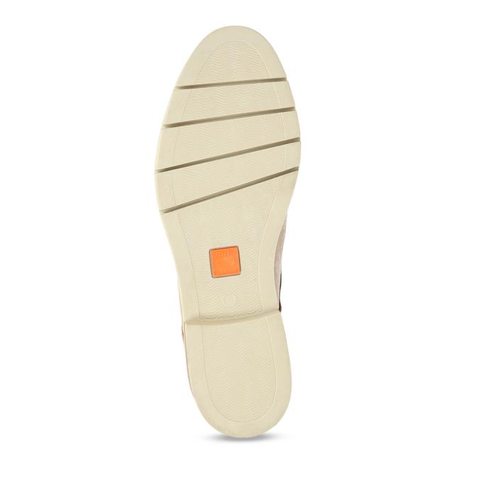 Béžové dámské polobotky z broušené kůže flexible, béžová, 523-8603 - 18