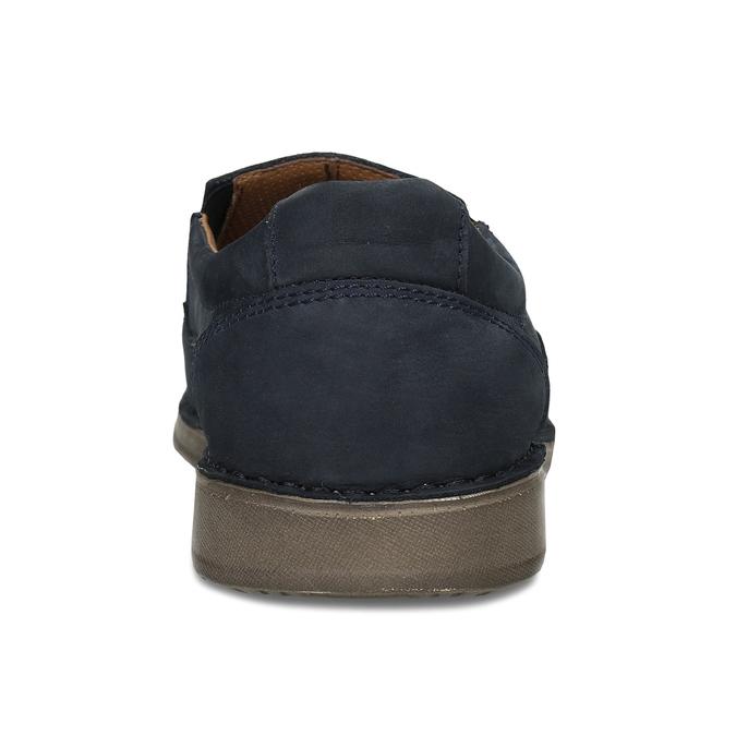 Pánské kožené Slip-on polobotky modré comfit, modrá, 833-9760 - 15