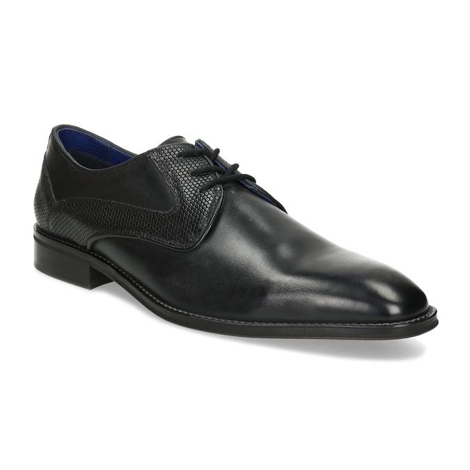 Černé pánské kožené Derby polobotky bata, černá, 824-6620 - 13