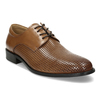 Elegantní kožené polobotky s perforací bata, hnědá, 826-3698 - 13