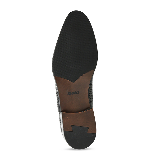 Pánské kožené černé polobotky bata, černá, 824-6676 - 18