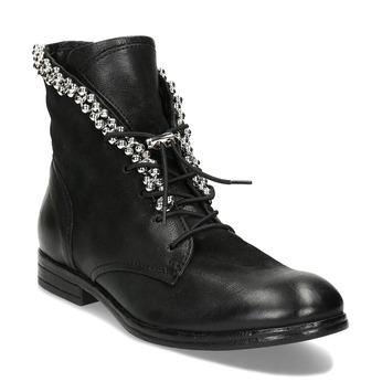 Dámská kotníková obuv černá bata, černá, 596-6620 - 13