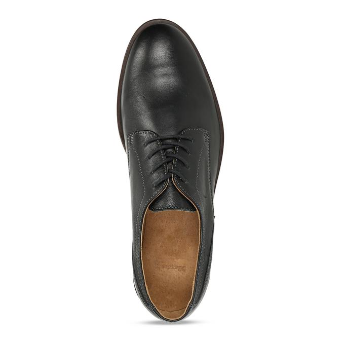 Kožené pánské černé polobotky bata, černá, 824-6693 - 17