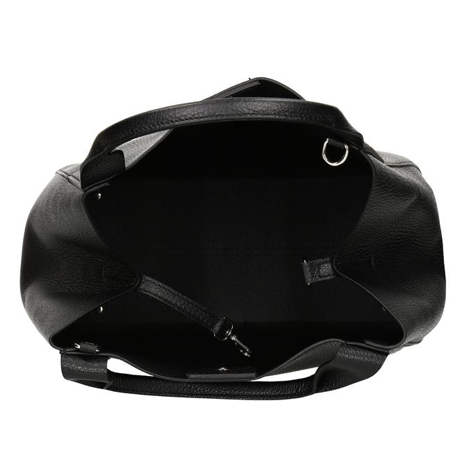 Černá kožená kabelka bata, černá, 964-6126 - 15