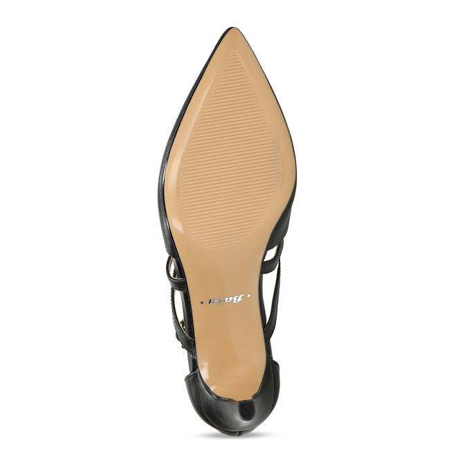 Kožené lodičky na vysokém podpatku bata, černá, 726-6604 - 18