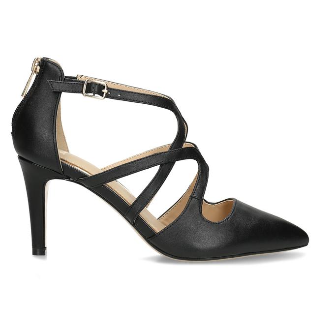 Kožené lodičky na vysokém podpatku bata, černá, 726-6604 - 19