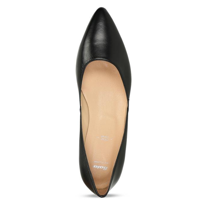 Celokožené černé baleríny na nízkém podpatku bata, černá, 524-6623 - 17
