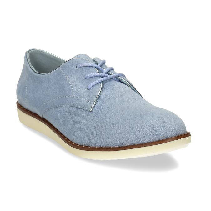 Modré dámské polobotky bez podpatku bata, modrá, 529-9603 - 13