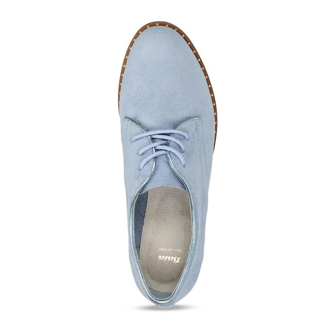 Modré dámské polobotky bez podpatku bata, modrá, 529-9603 - 17