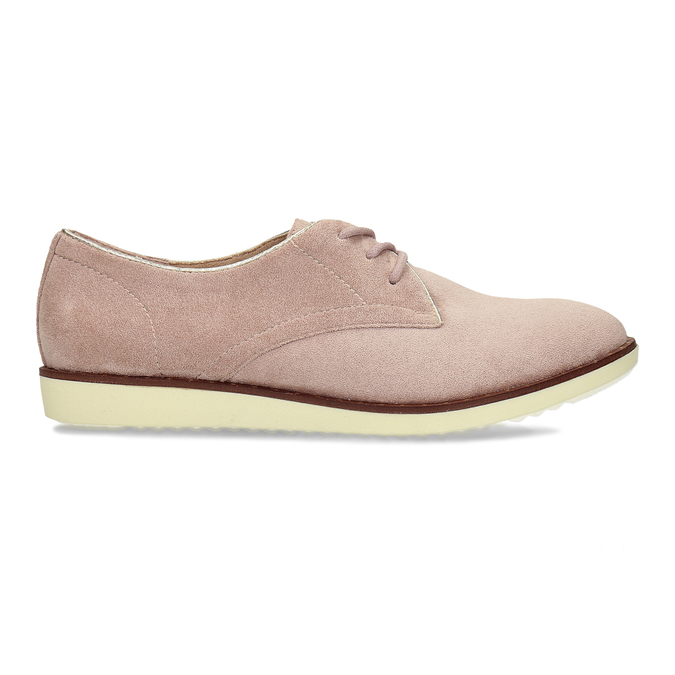 Růžové dámské polobotky bez podpatku bata, růžová, 529-5603 - 19