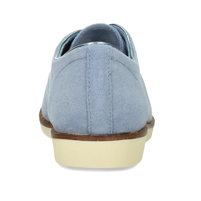 Modré dámské polobotky bez podpatku bata, modrá, 529-9603 - 15