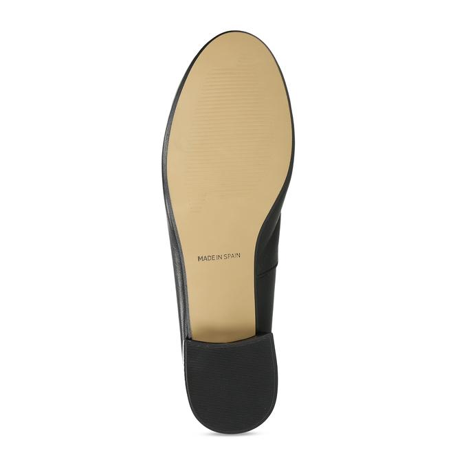 Dámské kožené baleríny na nízkém podpatku bata, černá, 524-6627 - 18