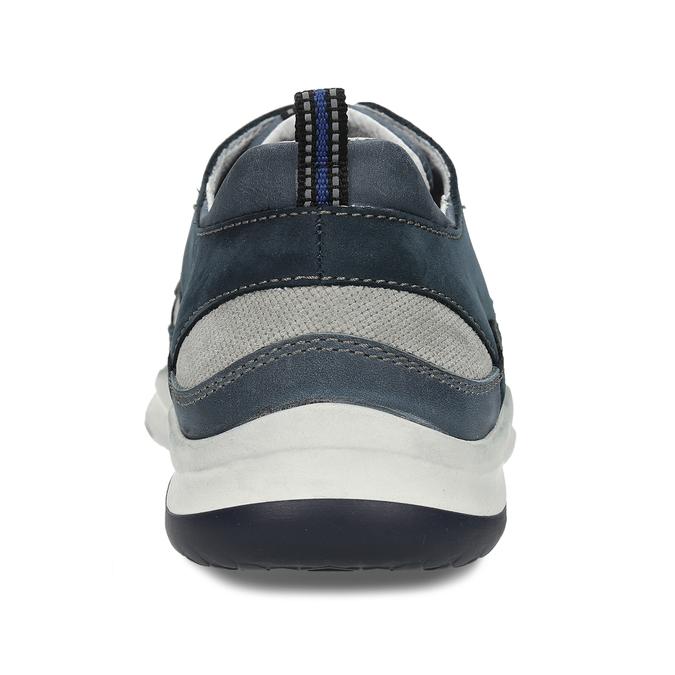 Pánské tmavě modré kožené tenisky bata, modrá, 846-9604 - 15